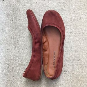 [Lucky Brand] Brown Leather Emile Flats